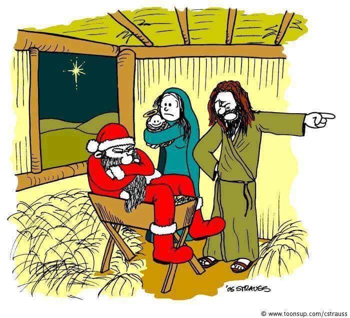 Mikołaj zajmuje miejsce Chrystusa